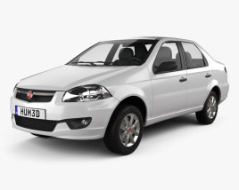 Fiat Siena 2009 3D model
