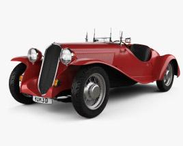 Fiat 508 S Balilla spyder 1932 3D model
