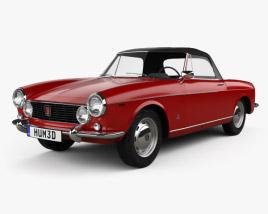 Fiat 1600 S Cabriolet 1963 3D model