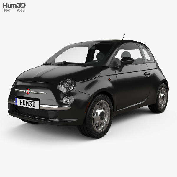 fiat 500 trendy 2015 3d model vehicles on hum3d. Black Bedroom Furniture Sets. Home Design Ideas