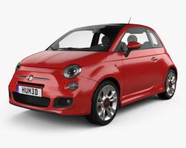 Fiat 500 Sport 2014 3D model