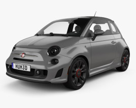 Fiat 500 Turbo 2014 3D model