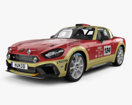 Fiat 124 Abarth Rally 2016 3D model