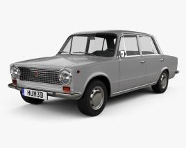 Fiat 124 1966 3D model