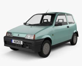 Fiat Cinquecento 1991 3D model