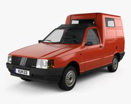 Fiat Fiorino Panel Van 1988 3D model