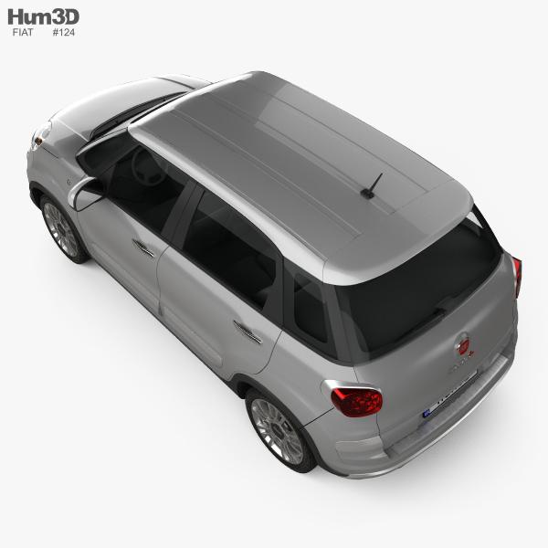 Fiat 500L Cross 2017 3D Model