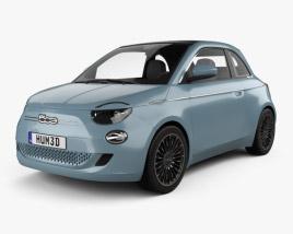 Fiat 500 la Prima France cabriolet 2020 3D model