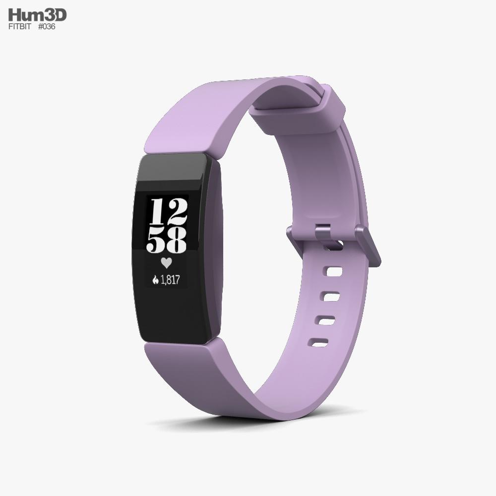 Fitbit Inspire HR Lilac 3d model