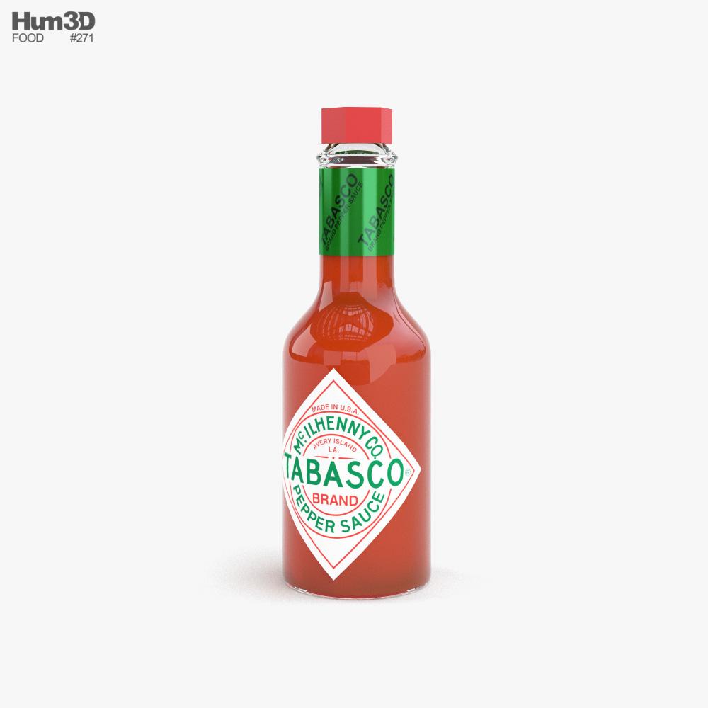 Hot Sauce Bottle 3d model