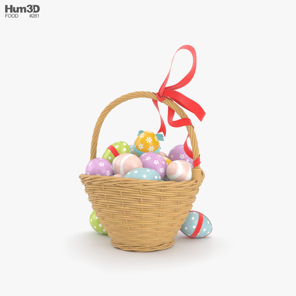Easter Basket 3d model
