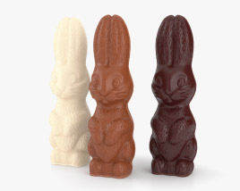 Chocolate Bunnies 3D model