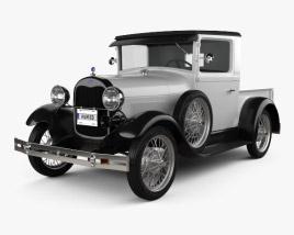 Ford Model A Pickup Closed Cab 1928 3D model