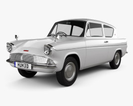 Ford Anglia 105e 2-door Saloon 1967 3D model