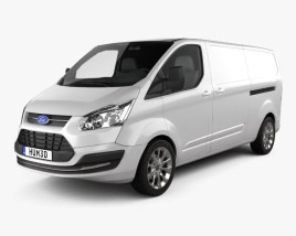 Ford Transit Custom LWB 2012 3D model