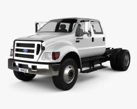Ford F-650 / F-750 Double Cab Chassis 2012 3D model