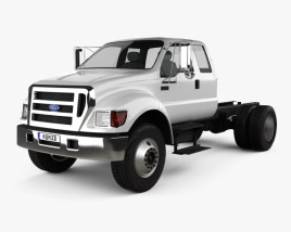Ford F-650 / F-750 Super Cab Chassis 2012 3D model