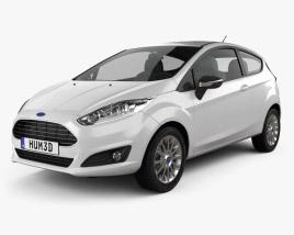 Ford Fiesta hatchback 3-door (EU) 2013 3D model
