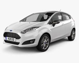 Ford Fiesta hatchback 5-door (EU) 2013 3D model