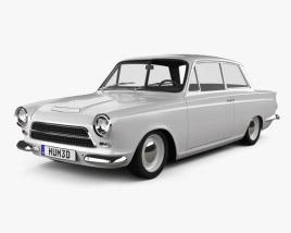 Ford Lotus Cortina Mk1 1963 3D model