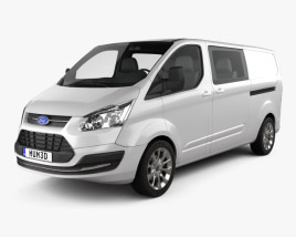 Ford Transit Custom Crew Van LWB 2013 3D model