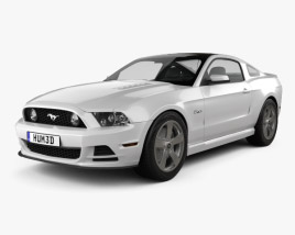 Ford Mustang 5.0 GT 2012 3D model