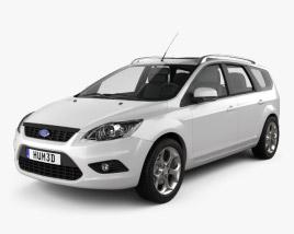 Ford Focus estate 2008 3D model
