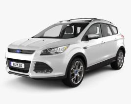 Ford Escape with HQ interior 2013 3D model