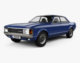 Ford Granada sedan EU 1972 3D model