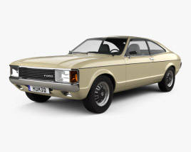 Ford Granada coupe EU 1972 3D model