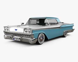Ford Fairlane 500 Galaxie Skyliner 1959 3D model