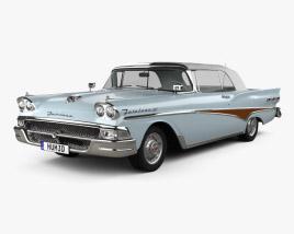 Ford Fairlane 500 Sunliner 1958 3D model