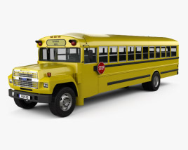 Ford B-700 Thomas Conventional School Bus 1984 3D model