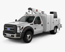 Ford F-550 Service Truck 2010 3D model