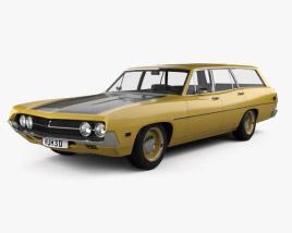 Ford Torino 500 Station Wagon 1971 3D model