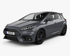 Ford Focus hatchback RS 2014 3D model