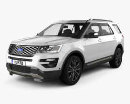 Ford Explorer (U502) Platinum 2015 3D model
