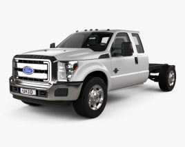 Ford F-450 Super Cab Chassis 2010 3D model