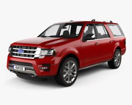 Ford Expedition EL Platinum 2015 3D model