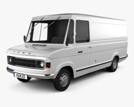 Ford A-Series Panel Van 1973 3D model