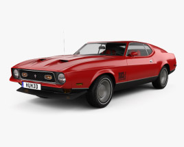 Ford Mustang Mach 1 1971 James Bond 3D model