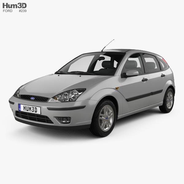Peugeot 108 3 Door 1 0 Active Hatchback: Ford Focus 5-door Hatchback 2002 3D Model