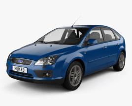 Ford Focus 5-door hatchback 2004 3D model