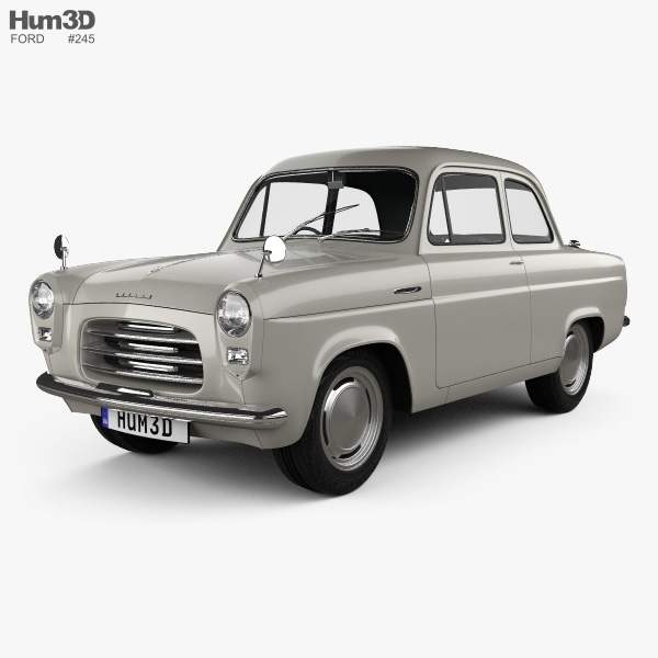 ford anglia 100e 1953 3d model vehicles on hum3d. Black Bedroom Furniture Sets. Home Design Ideas