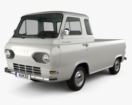 Ford E-Series Econoline Pickup 1963 3D model