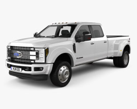 Ford F-450 Super Duty Super Crew Cab Platinum 2015 3D model