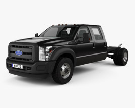 Ford F-550 Crew Cab Chassis 2010 3D model