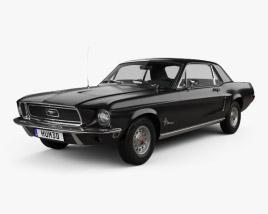 Ford Mustang Hardtop 1968 3D model