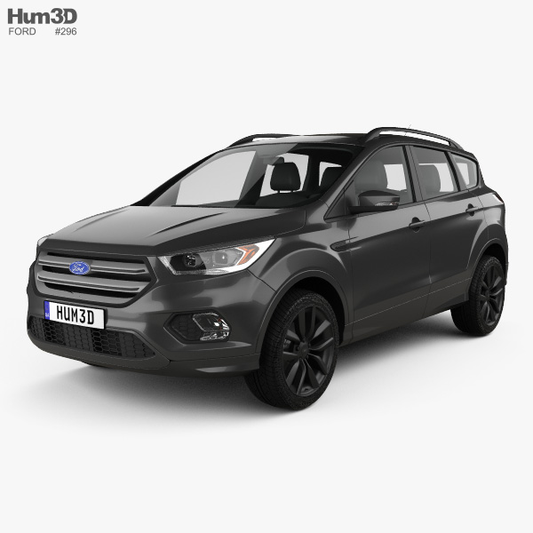 New Ford Vehicles For 2016: Ford Kuga 2016 3D Model