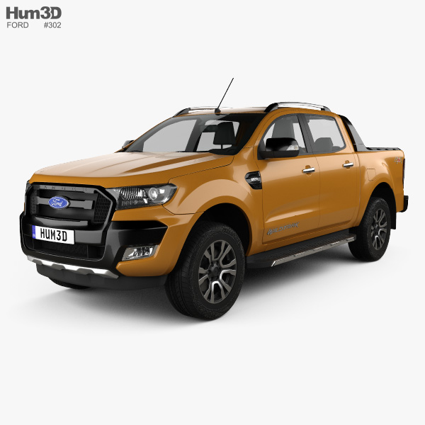 2016 Ford Ranger >> Ford Ranger Double Cab Wildtrak 2016 3d Model